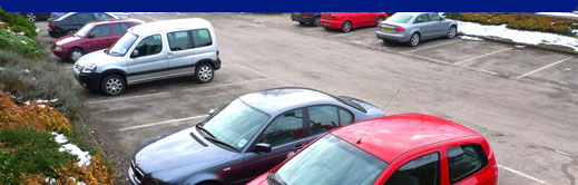 Cars parked in a carpark